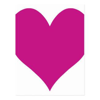 Mittleres violettes rotes Herz Postkarte