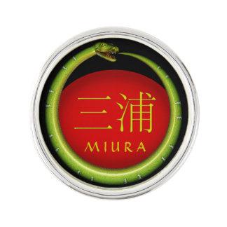 Miura Monogramm-Schlange Anstecknadel