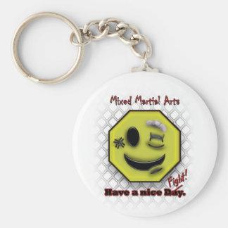 MIXED MARTIAL ARTS Lächeln hat einen schönen Tag Schlüsselanhänger