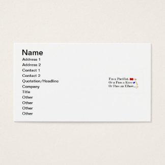 MIXED MARTIAL ARTS pazifistischer Spaß-Entwurf Visitenkarte