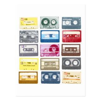 Mixtapes Grafik Postkarte