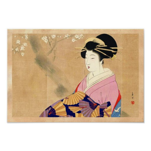 Miyagawa Shuntei Oiran japanische ukiyo-e Kunst Posterdrucke