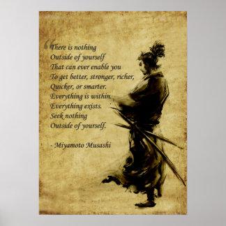 Miyamoto Musashi alles ist innen Poster