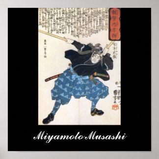 Miyamoto Musashi, das C. 1800's malt Posterdruck