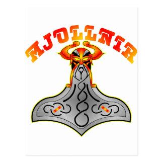 Mjollnir Hammer von Thor Postkarte