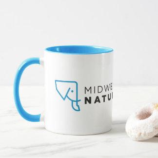 MMNH blaue weiße Logo-Tasse Tasse