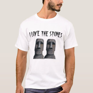 Moai auf einem Shirt