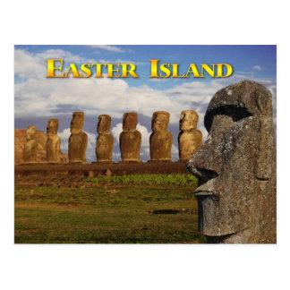 Moai bei Ahu Tongariki, Osterinsel (Rapa Nui) Postkarte