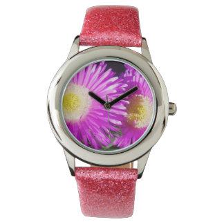 Moave saftige Gänseblümchen, Armbanduhr