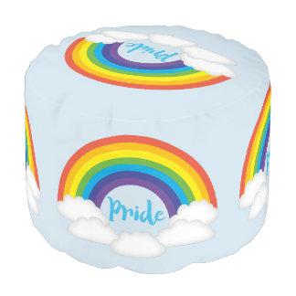 Möbel-Puff des Regenbogen-Stolz-LGBTQ Hocker