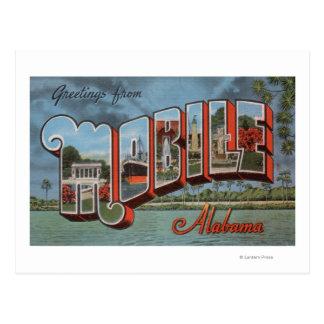 Mobile, Alabama (Fluss-Szene) Postkarte