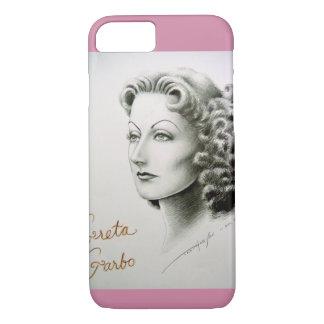 Mobiltelefonkasten mit Greta Garbo-Porträt iPhone 8/7 Hülle