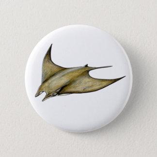Mobula tarapacana- Schwacher Manta- Decke ray Runder Button 5,7 Cm