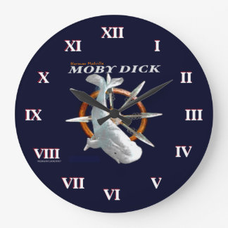 Moby Dick Große Wanduhr