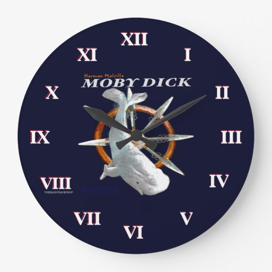 moby dick gro e wanduhr zazzle. Black Bedroom Furniture Sets. Home Design Ideas