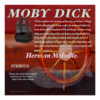 Moby Dick Symbole Poster