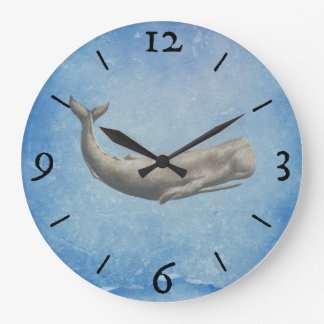 Moby-Dick Wal-Wanduhr Große Wanduhr