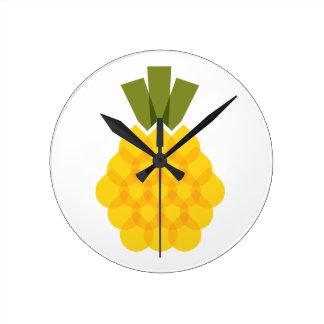 Mod-Ananas Runde Wanduhr