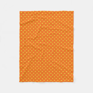 "'Mod betont"" Orange/Yel/Polka-Punkte Fleecedecke"