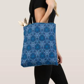 Mod-Blizzard-blaue Schneeflocke-Muster-Tasche Tasche