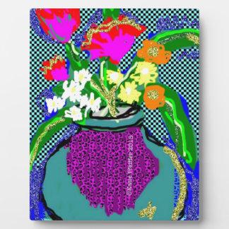 Mod-Blumen-Blumenstrauß wenn Blau des Gefühls Im Fotoplatte