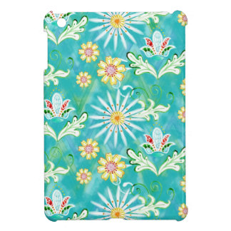 Mod-BlumenBlumen-Kunst-handgemalter Zickzack Strei Hüllen Für iPad Mini