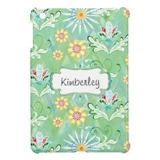 Mod-BlumenBlumen-Kunst-handgemalter Zickzack Strei iPad Mini Schale