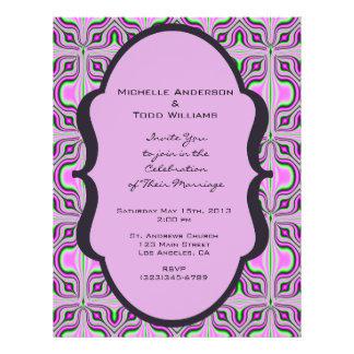 Mod, das rosa malvenfarbenes Muster Wedding ist Individuelle Flyer