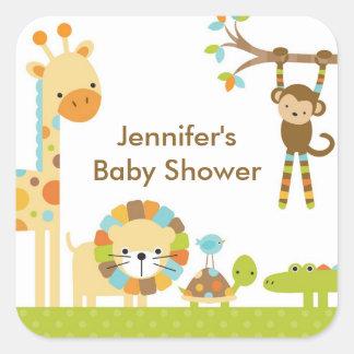 Mod-Dschungel-Safari-Baby-Duschen-Aufkleber