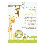 Mod-Dschungel-Safari-Baby-Duschen-Einladung 12,7 X 17,8 Cm Einladungskarte