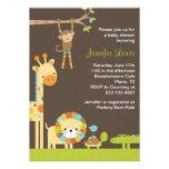 Mod-Dschungel-Safari-Baby-Duschen-Einladung