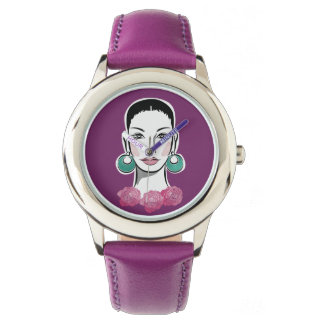 Mod Fleur Sechzigerjahre Frau Uhr