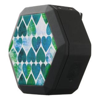 Mod-grüner u. blauer Grungy Herz-Entwurf Schwarze Bluetooth Lautsprecher