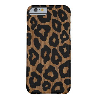 Mod-Holz-Leopard Barely There iPhone 6 Hülle