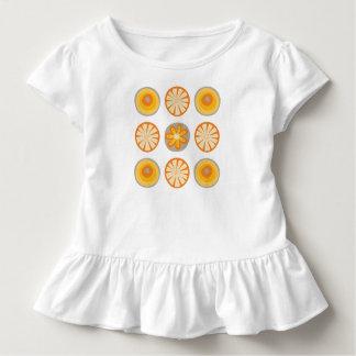 Mod-Kreis-Rüsche-T-Stück Kleinkind T-shirt