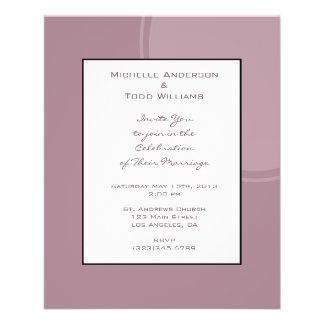 Mod-malvenfarbene rosa Hochzeit 11,4 X 14,2 Cm Flyer