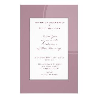 Mod-malvenfarbene rosa Hochzeit 14 X 21,6 Cm Flyer