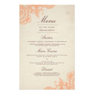 Mod Mehandi Hochzeits-Abendessen-Menü 14 X 21,6 Cm Flyer