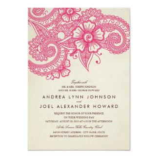 Mod Mehandi Hochzeits-Einladung Karte