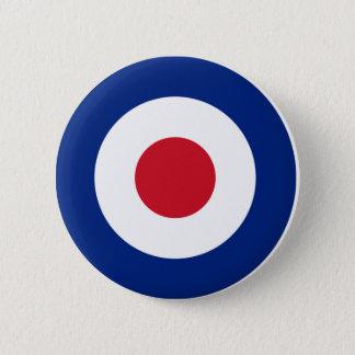 MOD Pinback Knopf-blaues Rot und Weiß Runder Button 5,7 Cm