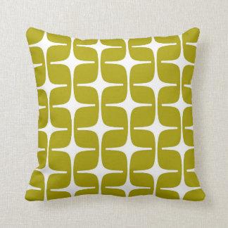 Mod-Rechteck-Muster-Chartreuse grünes Weiß Zierkissen