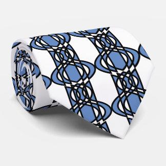 Mod-Retro blaues abstraktes Scarabäus-Muster Krawatte