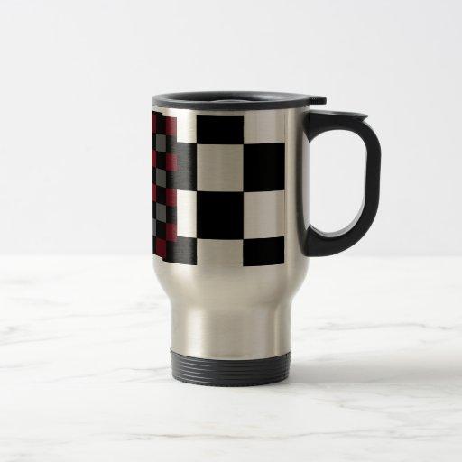 Mod-Retro Hipster-Schachbrett Kaffee Tassen
