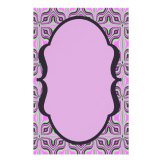 Mod-rosa malvenfarbenes Muster 14 X 21,6 Cm Flyer