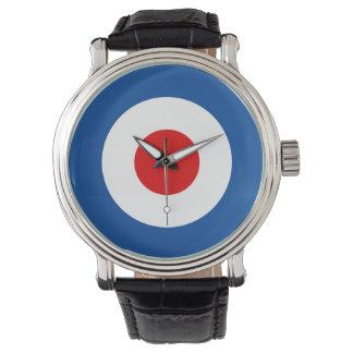 Mod Roundel lederne Band-Uhr Uhren