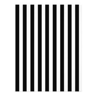 Mod-Schwarzweiss-Streifen-Muster 21,6 X 27,9 Cm Flyer