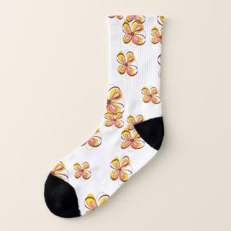 Mod-Spaß-grafischer Blumendruck Socken