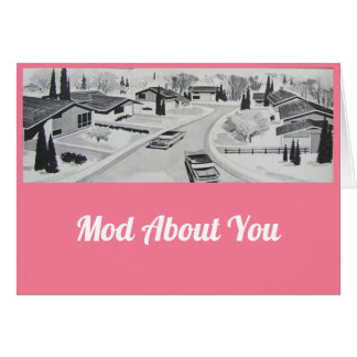 Mod über Sie Valentines Karte