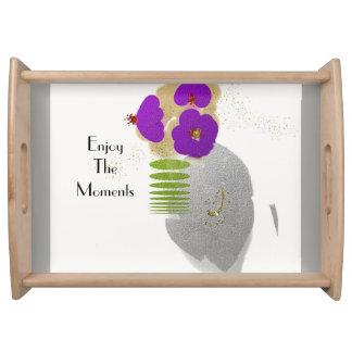 Mod-Zen-Blume-Kunst (c) LG-Serving_Vanity Behälter Serviertablett