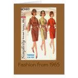 Mode 1965 grußkarte